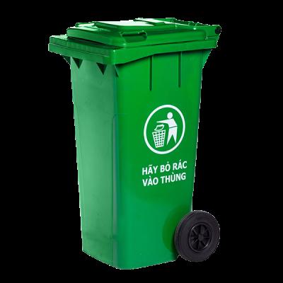 Thùng rác nhựa có bánh xe nắp kín 240 lít
