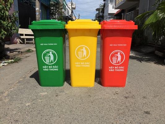 Thùng rác nhựa chất lượng cao giá rẻ TP HCM