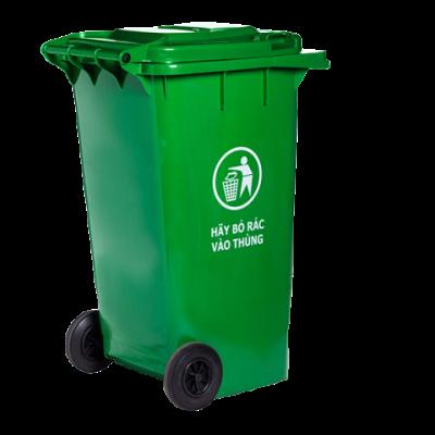 Thùng rác công nghiệp nhựa HDPE nắp kín 120 lít