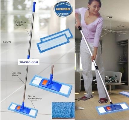 Cây lau vệ sinh sàn nhà siêu sạch sợi Microfiber