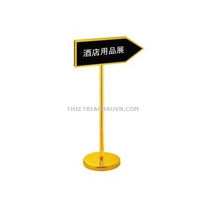 Bảng chỉ dẫn khung inox xi mạ vàng cao cấp