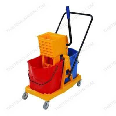 Xe đẩy vắt nước cây lau sàn nhà có 2 xô