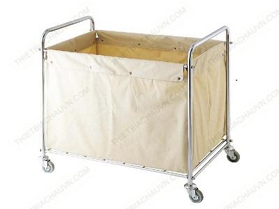 Xe thu gom đồ dơ túi đơn trong bệnh viện khách sạn