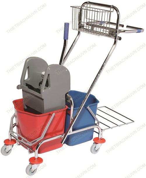 Xe vắt mop & dọn vệ sinh đa năng