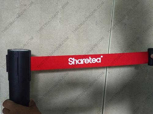in logo thương hiệu trên dây cột chắn