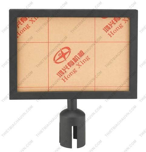 Bảng menu gắn đầu cột chắn khổ A3 màu đen