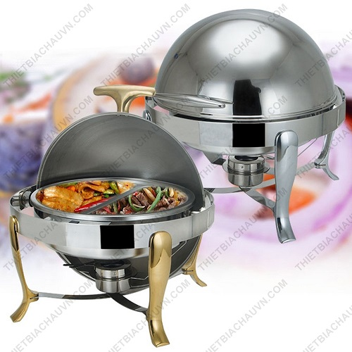 Nồi hâm nóng thức ăn tiệc buffet hình tròn