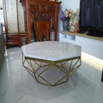 Bàn sofa hình bát giác khung sắt sơn tĩnh điện
