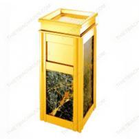Thùng rác đá hoa cương inox mạ vàng