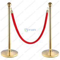 Cột chắn inox  xi mạ vàng dùng trong sự kiện