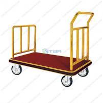 Xe đẩy hàng và hành lý loại lớn inox xi mạ vàng